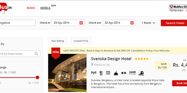 Indian online travel evolves - redBus launches hotels