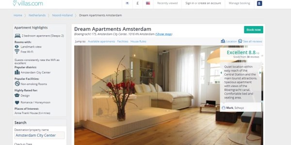 Booking.com quietly closes Villas.com rental brand