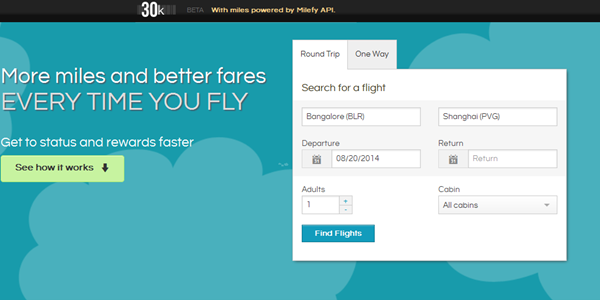 Startup pitch: 30K helps travellers earn more miles when they book a flight