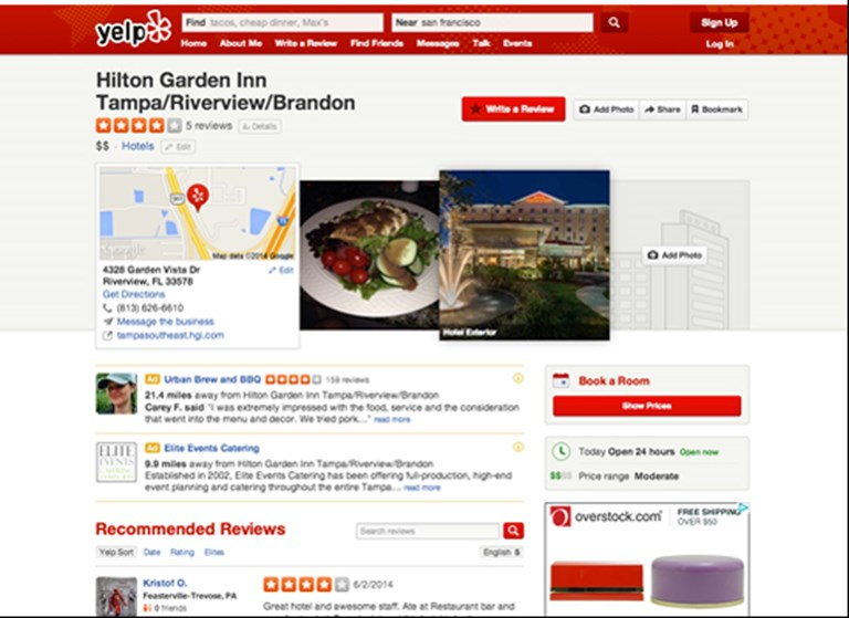 In a first, Yelp adds a Hipmunk hotel booking button to its