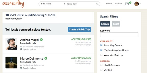 Couchsurfing relaunches on new platform with fresh functionality