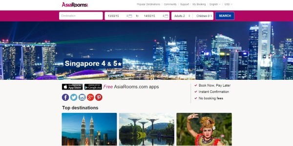 TUI throws in the towel with AsiaRooms hotel booking site