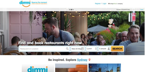 Hungry again, TripAdvisor acquires Dimmi, a restaurant-booking site Down Under