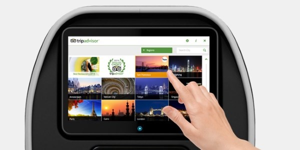 Up in the air - TripAdvisor now on in-flight entertainment systems