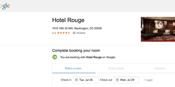Google quietly adds instant booking for hotels, copying TripAdvisor