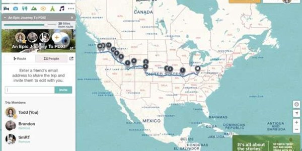 RoadTrippers brings its own collaborative trip planning tool to road trips