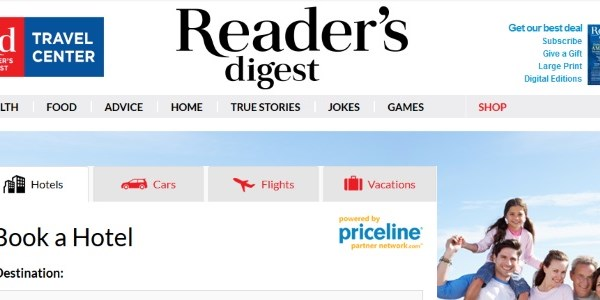 Priceline books white-label tie-up with Reader's Digest