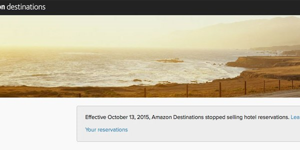 Amazon Destinations stops selling travel
