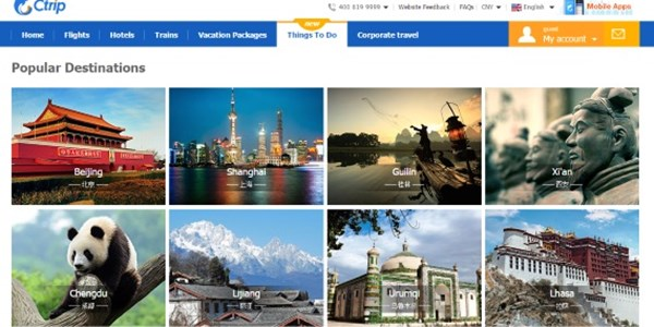 Ctrip gives tours and activities channel a major boost