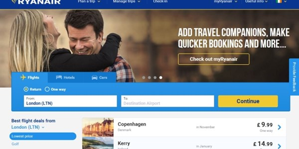 First look - Ryanair teases new website