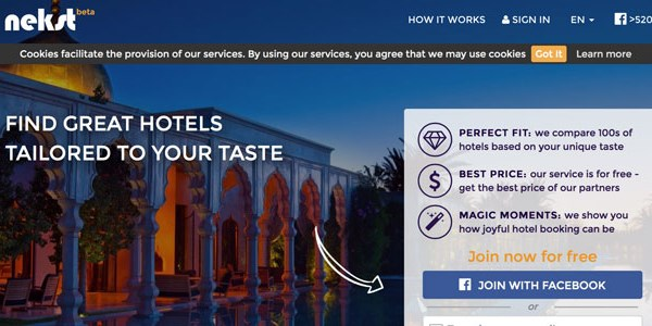 Startup pitch: Nekst offers personalized hotel search