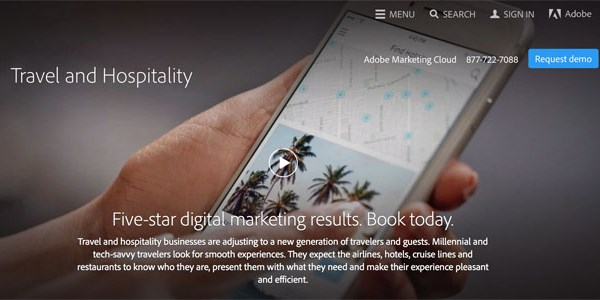 Adobe boosts its travel marketing business by about 50% in a year