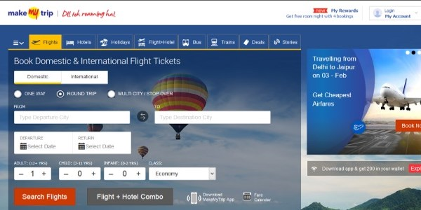 MakeMyTrip sees triple-digit mobile growth