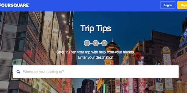 Foursquare enters trip planning melee with Trip Tips
