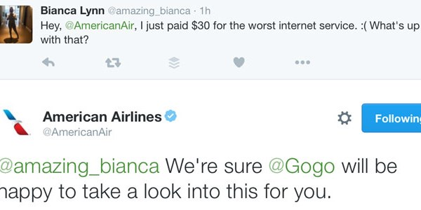 American Airlines drops its Gogo inflight internet suit