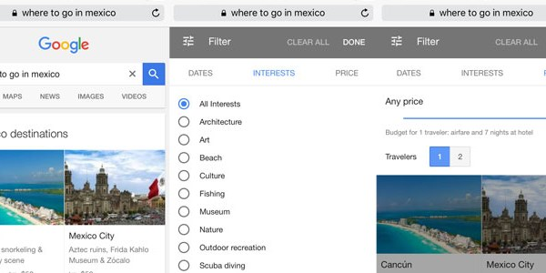 SEO alert: Google overhauls its travel search interface for mobile
