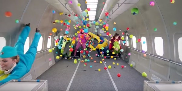 Move over in-flight safety videos - zero gravity is how you get attention
