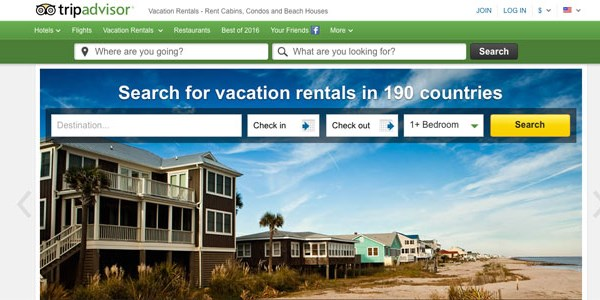 In 2015, TripAdvisor grew its vacation rental listings 18%, to 770,000