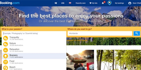Booking.com thinks its Destination Finder will inspire your next trip