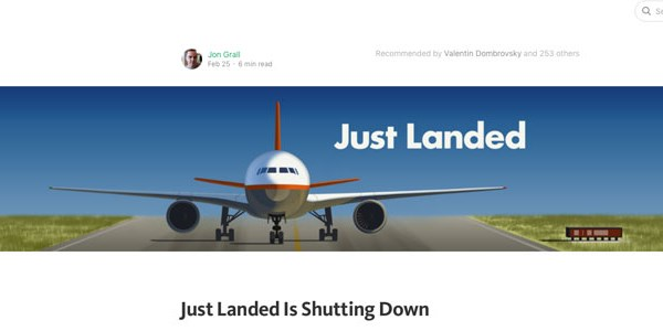 Just Landed just shut down, and its story has lessons for other travel apps