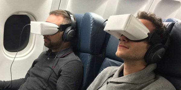 These new wraparound headsets help fliers forget they're on a plane