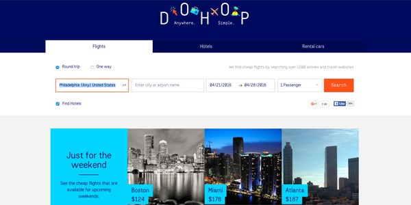 Flight metasearch DoHop reports a record quarter, redesigns site