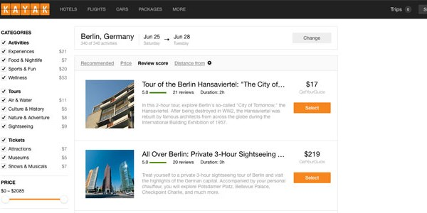 Kayak adds tours and activities to its travel metasearch [UPDATED]
