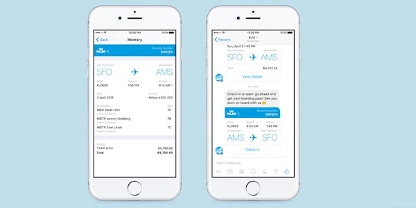 KLM on Messenger and being a speck in a galaxy of digital giants