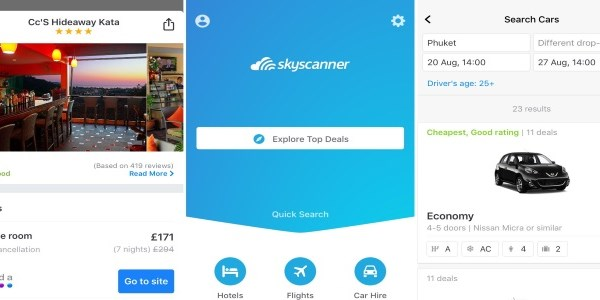 Metasearch mobile war begins: Skyscanner integrates hotels and car rental