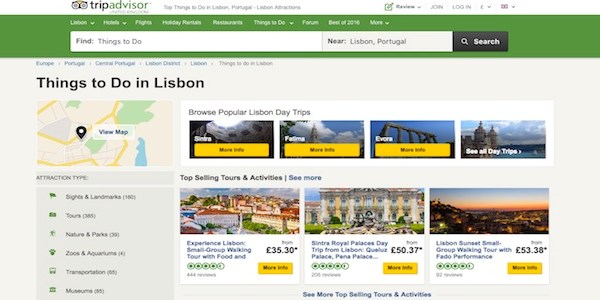 TripAdvisor offers attractions content for partners