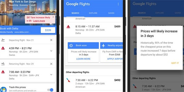 Google adds airfare forecasts and hotel loyalty marketing to metasearch