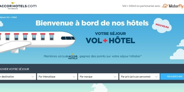 Accor links up with Misterfly to offer hotel plus flight option on its brand dotcom