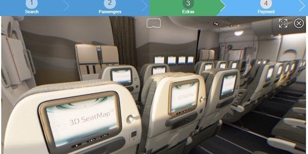 Emirates gives vote of confidence to VR seat mapping software